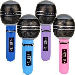 Inflatable Microphones (Pack of 12)