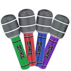 Inflatable Microphones (Pack of 4)