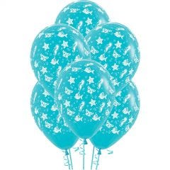 All Over Sea Animals Balloons (Pack of 6)