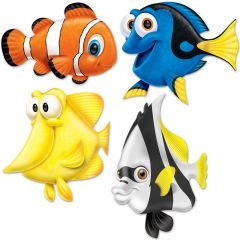 Under the Sea Fish Cutout Decorations (Pack of 4)