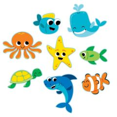 Sea Life Cutout Decorations (Pack of 13)