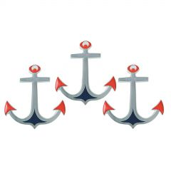 Anchor Wall Decorations (Pack of 3)
