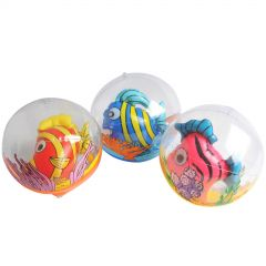 Inflatable Striped Fish in Ball (Pack of 12)
