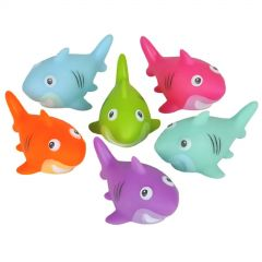 Assorted Coloured Squirting Shark Toys (Pack of 24)