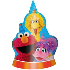 Sesame Street Party Hats (Pack of 8)