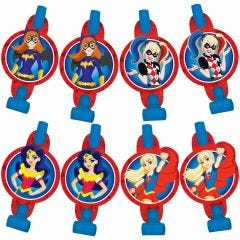 Super Hero Girls Party Blowers (Pack of 8)