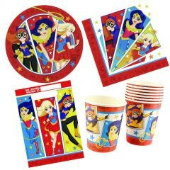 Super Hero Girls 40 Piece Party Pack (For 8 Guests)