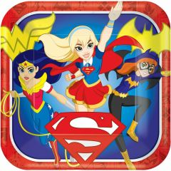Super Hero Girls Large Paper Plates (Pack of 8)