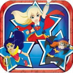 Super Hero Girls Small Paper Plates (Pack of 8)