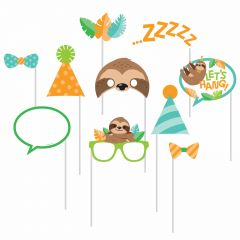 Sloth Party Photo Booth Props (Pack of 10)