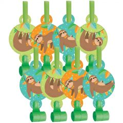 Sloth Party Blowers (Pack of 8)