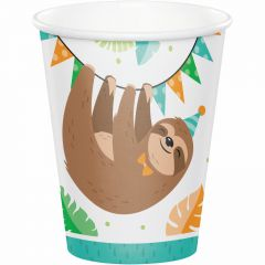 Sloth Party Paper Cups (Pack of 8)
