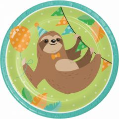 Sloth Party Large Paper Plates (Pack of 8)