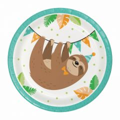 Sloth Party Small Paper Plates (Pack of 8)