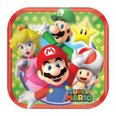 Super Mario Bros. Small Paper Plates (Pack of 8)