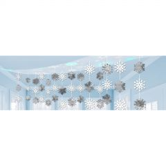 Snowflake Swirl Decorations (Value Pack of 30)