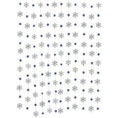 Snowflake Foil String Decorations (Pack of 12)