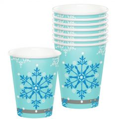 Pack of 8 Snow Princess paper party cups