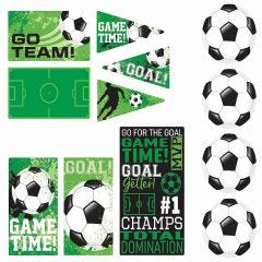 Goal Getter Soccer Cutout Decorations (Pack of 12)