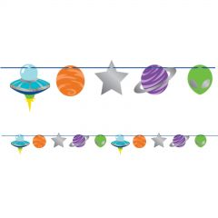 Space Party Garland Banner (2.2m)