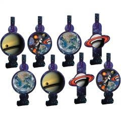 Space Blast Party Blowers (Pack of 8)