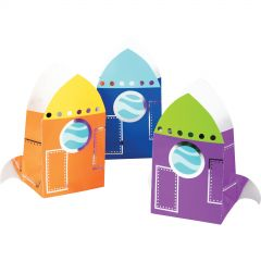 Space Party Rocket Ship Lolly/Treat Bags (Pack of 8)