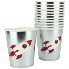 Space Party Paper Cups (Pack of 8)