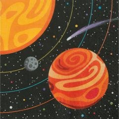Space Party Large Napkins / Serviettes (Pack of 16)
