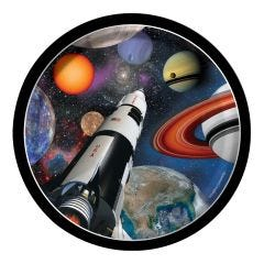 Space Blast Small Paper Plates (Pack of 8)