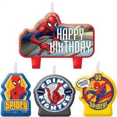 Ultimate Spiderman Candles (Set of 4)
