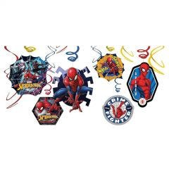 Ultimate Spiderman Swirl Decorations (Pack of 12)