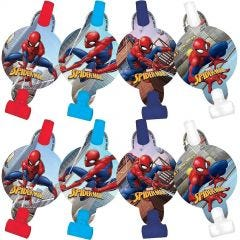 Ultimate Spiderman Party Blowers (Pack of 8)