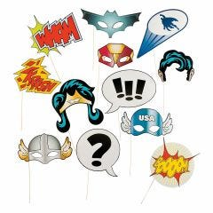 Superhero Photo Booth Prop Set (Pack of 12)