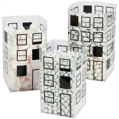Cityscape Plastic Lolly Containers (Set of 6)