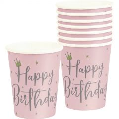 Swan Birthday Paper Cups (Pack of 8)