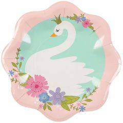 Pink Princess and Unicorn Large Paper Plates (Pack of 8)