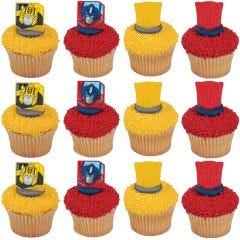 Transformers Mission Complete Cupcake Rings (Pack of 12)