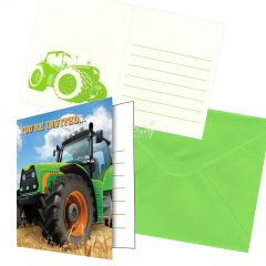 Tractor Time Invitations (Pack of 8)