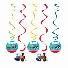 All Aboard Dangling Decorations (Pack of 5)