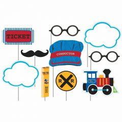 All Aboard Photo Booth Props (Pack of 10)