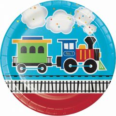 All Aboard Large Paper Plates (Pack of 8)