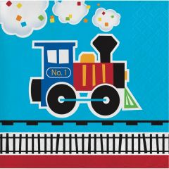 All Aboard Small Napkins / Serviettes (Pack of 16)