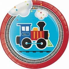 All Aboard Small Paper Plates (Pack of 8)