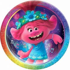 Trolls World Tour Large Paper Plates (Pack of 8)