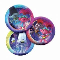 Trolls World Tour Small Paper Plates (Pack of 8)