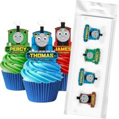 Thomas the Tank Engine Edible Wafer Cupcake Toppers (Pack of 16)