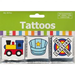 Train Tattoos (Pack of 36)