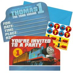 Thomas The Tank Engine All Aboard Invitation Set (Pack of 8)