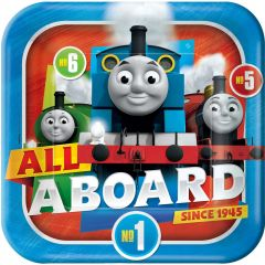 Thomas The Tank Engine All Aboard Large Paper Plates (Pack of 8)