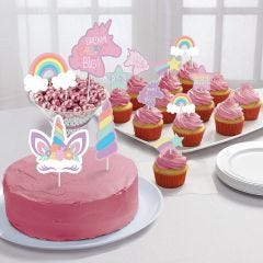 Unicorn Party Cake Topper Kit (Pack of 12)